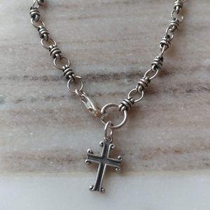 Jewelry - Sterling Silver Cross Rosary Bracelet